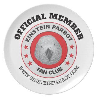 Einstein Parrot African Grey Parrot Fan Club Logo Plate