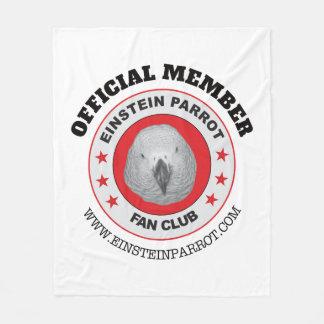 Einstein Parrot Fan Club Logo Fleece Blanket