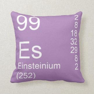 Einsteinium Throw Pillow