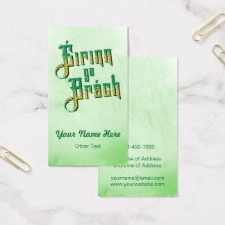 Éirinn go Brách Ireland Forever Business Card Temp