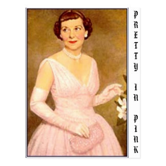 eisenhower mamie, PRETTY IN PINK Postcard