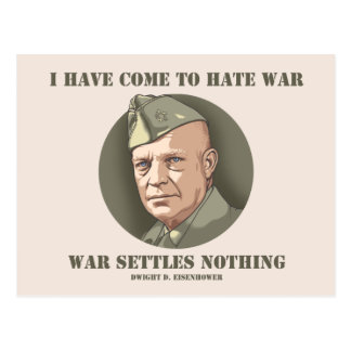 Eisenhower -War Postcard