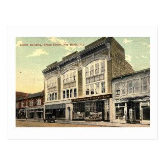 Eisner Building, Red Bank NJ Vintage Postcard