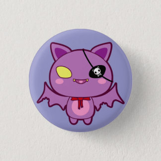 Eitel the Vain Bat 1 Inch Round Button