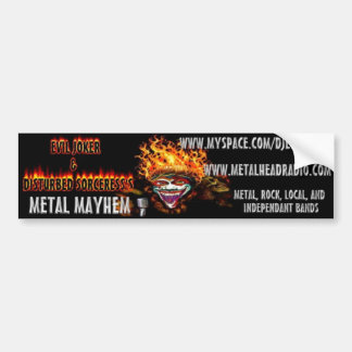 EJ & DS's Metal Mayhem bumper sticker Car Bumper Sticker