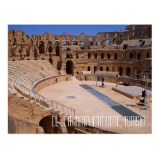 Ej Jem Roman Gladiator Amphitheatre Ruins Tunisia Postcard