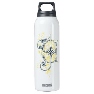 EJ or JE Vintage Monogram in Blue and Yellow