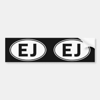 EJ Oval Identity Sign Bumper Sticker