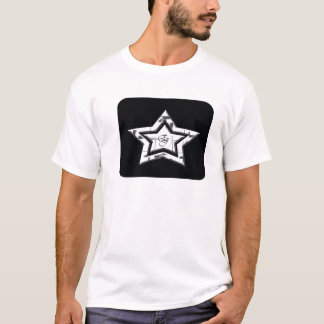 EJ white star design T-Shirt