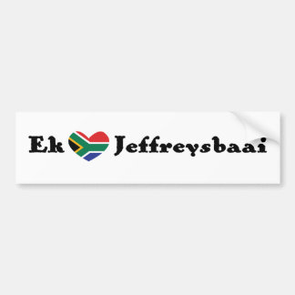 Ek *Heart* Jeffreysbaai (I *Heart* Jeffrey's Bay) Bumper Sticker