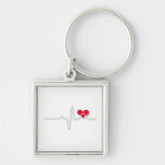 EKG Heart Nurse Key Chain