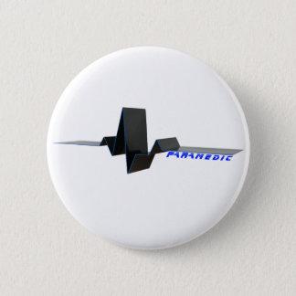 EKG Paramedic 2 Inch Round Button
