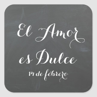 El Amor es Dulce- Customize these stickers