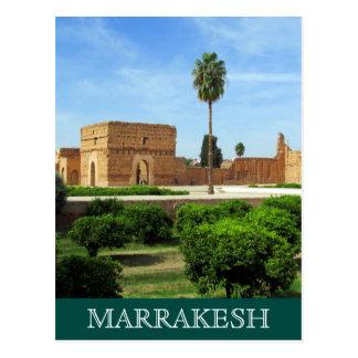 el badi palace marrakesh postcard