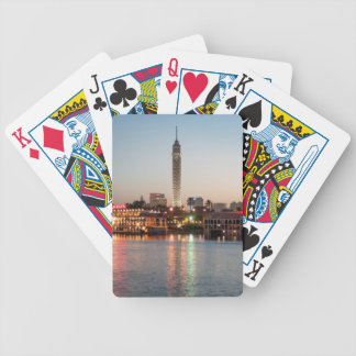 El Borg Tower at Dusk, Cairo, Egypt Bicycle Playing Cards