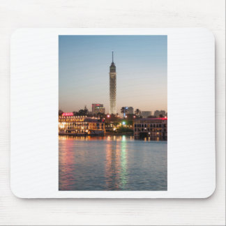 El Borg Tower at Dusk, Cairo, Egypt Mouse Pad
