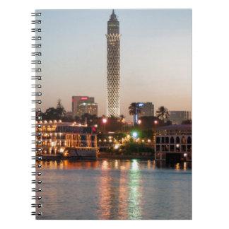 El Borg Tower at Dusk, Cairo, Egypt Notebooks