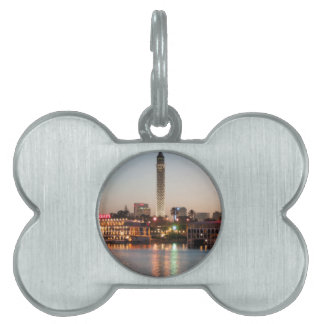 El Borg Tower at Dusk, Cairo, Egypt Pet Name Tags