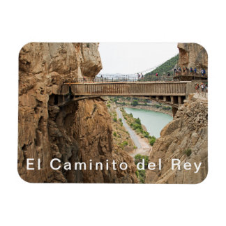 El Caminito del Rey. View 2 Bridge over the abyss. Magnet