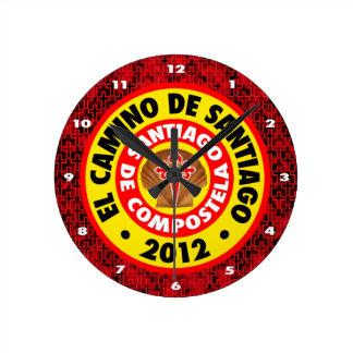 El Camino De Santiago 2012 Round Clock