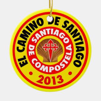 El Camino De Santiago 2013 Ceramic Ornament