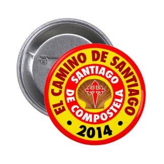 El Camino de Santiago 2014 2 Inch Round Button