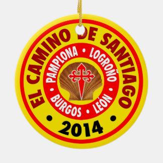 El Camino De Santiago 2014 Ceramic Ornament