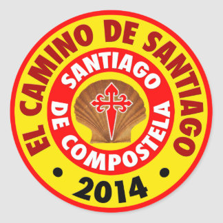 El Camino de Santiago 2014 Classic Round Sticker