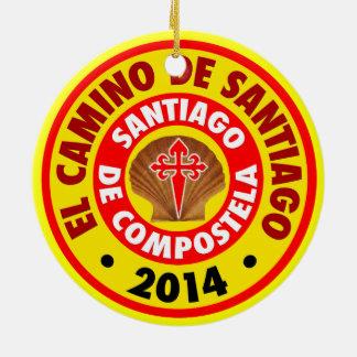 El Camino De Santiago 2014 Round Ceramic Ornament