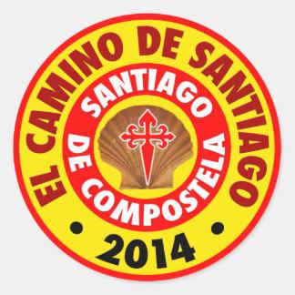 El Camino de Santiago 2014 Round Sticker