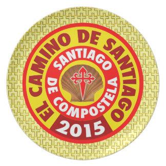 El Camino de Santiago 2015 Plate