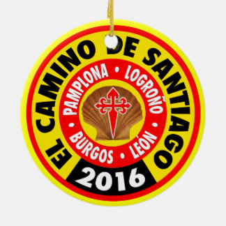 El Camino de Santiago 2016 Ceramic Ornament