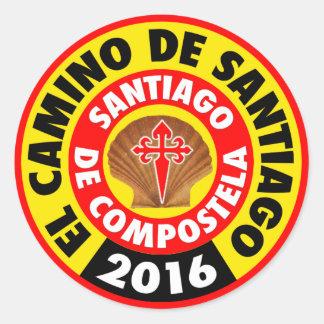 El Camino de Santiago 2016 Classic Round Sticker