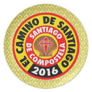 El Camino de Santiago 2016 Plate