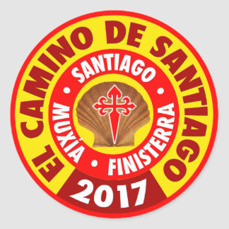 El Camino de Santiago 2017 Classic Round Sticker