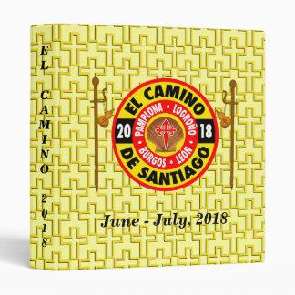El Camino de Santiago 2018 3 Ring Binders