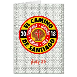 El Camino De Santiago 2018 Card