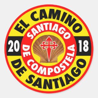 El Camino de Santiago 2018 Classic Round Sticker
