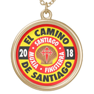 El Camino De Santiago 2018 Gold Plated Necklace