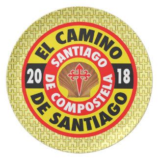 El Camino de Santiago 2018 Plate