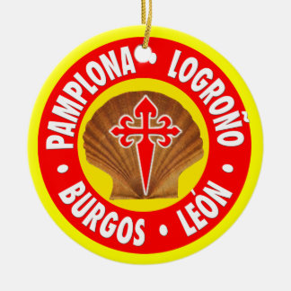 El Camino de Santiago Ceramic Ornament