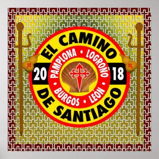 El Camino de Santiago de Compostela 2018 Poster
