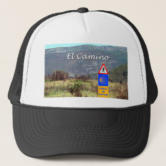El Camino de Santiago sign (caption) Trucker Hat
