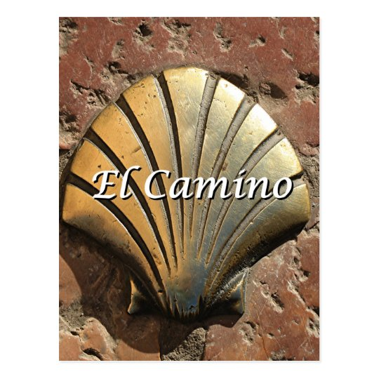 El Camino gold shell, Leon (caption) Postcard