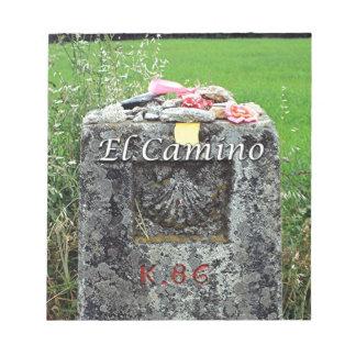 El Camino: Marker 86 kilometres,  Spain Notepad