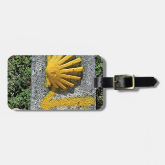 El Camino shell and arrow sign, Spain Luggage Tag