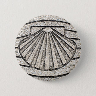 El Camino shell, pavement, Spain 2 Inch Round Button
