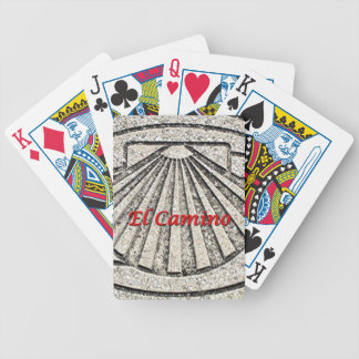 El Camino shell, pavement, Spain (caption) Bicycle Playing Cards