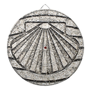 El Camino shell, pavement, Spain Dartboard