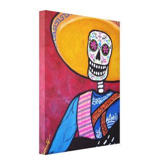 El Cantador Dia de Los Muertos Mariachi Canvas Print